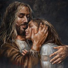 When you let everything go, Ill give you what I have for you. If you hold onto things, you put them above Me. Christian Paintings, Christian Artwork, Braut Christi, Mary Magdalene And Jesus, Jesus Artwork, Mode Poster, Pictures Of Jesus Christ, Jesus Painting, Jesus Christus