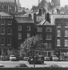 Wood Quay late 60s, prior to the demolition of for the new Dublin Corporation / Dublin City Council buildings.