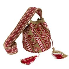 Vendor: Castellano Ethnic OriginsType: Men - Bags - CrossbodyPrice: 185.00  This handwoven Mochila bag is brought to life by Wayuu artisans in the La Guajira peninsula in northern Colombia. This bag takes up to 25 days to weave by hand with just a single strand of thread making a very tight and strong weave. The pattern is a symbol of the Wayuu culture and a fine example of their ethnic lifestyle .  This bespoke piece is embellished with Swarovski crystals and is one of a kind.By buying this…