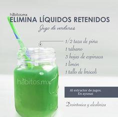 Hábitos Health Coaching | JUGO DE VERDURAS ELIMINA LÍQUIDOS RETENIDOS