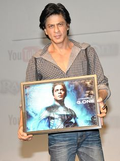 Shah Rukh Khan during Ra.One promotions