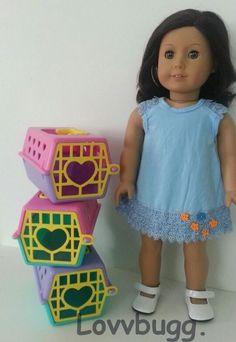 "ONE Pet Carrier for Dog or Cat for 18"" American Girl Doll LOVVBUGG--FOUND IT! #Lovvbugg #DollPetsAccessories"