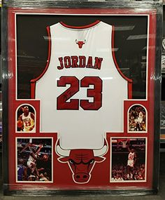 3c1ef85b11b Michael Jordan Chicago Bulls Autographed white jersey 23 COA at Amazon s  Sports Collectibles Store