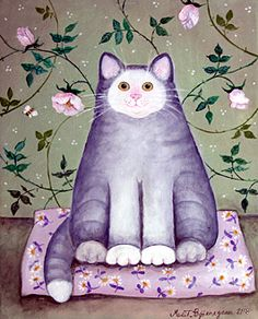 Happy Cat        Marit Bjornegran        2008        41cm x 33cm        Acrylic on canvas
