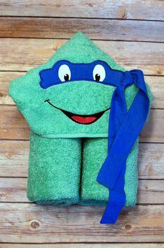 Ninja Turtle Hooded Towel Kids Toddlers Youth TMNT Valentines Easter Gift