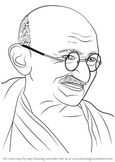 Mahatma Gandhi was a politician & played a key role in India independence. He was undisputed leader of all India Hindus. Name Drawings, Pencil Drawings Of Girls, Art Drawings For Kids, Outline Drawings, Art Drawings Sketches Simple, Sketchbook Drawings, Independence Day Drawing, Independence Day India, Mahathma Gandhi