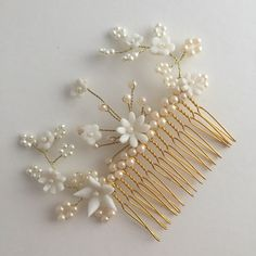 A personal favourite from my Etsy shop https://www.etsy.com/uk/listing/466054989/liebling-weddingbridal-haircomb