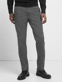 Classic stretch slim fit khakis
