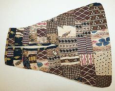 Pocket, early 19th century, American Gorgeous patterns together, all for a pocket, what a dandy!