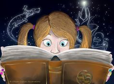 Never ending story  wordpainting:  Reading brings different worlds to life. READ!