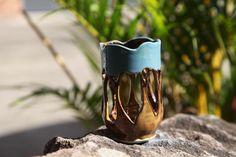 Tea light candle holder - stoneware by Lynda Lehmann at Firebird Studios