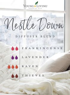 Nestle Down Nestle Down Essential Oils Guide, Essential Oil Uses, Young Living Oils, Young Living Essential Oils, Essential Oil Diffuser Blends, Aromatherapy Oils, Osho, Diffuser Recipes, Doterra