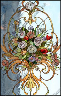 Stained Glass Door, Stained Glass Flowers, Stained Glass Designs, Stained Glass Panels, Stained Glass Projects, Stained Glass Patterns, Leaded Glass, Mosaic Glass, Glass Painting Patterns