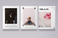 Fashion Postcard Flyers 3pk / 3 Editorial by NonolaBoutique #editorial #magazine #design #fashion #postcard #typography #modern #stationery #blogger #ad #layout #lifestyle #newsletter