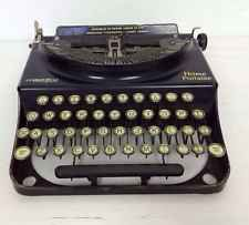 Vtg Black Remington Home Portable  Typewriter Industrial Shop Prop Craft Office