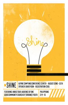 Shine Poster | Aaron Kim via Flickr | #design #poster