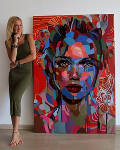 588 Likes, 17 Comments - NOEMI SAFIR Abstract Portrait Painting, Portrait Art, Painting Art, Arte Pop, Tableau Pop Art, Face Art, Art Studios, Amazing Art, Awesome