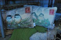 Cute bird pillows.