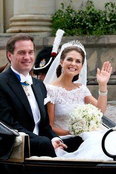 El paseo en carroza de la princesa Magdalena de Suecia