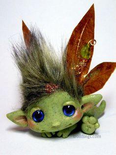 OOAK Baby Leaf Goblin Trollfling Troll Fairy boy by Trollflings