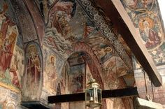 Byzantine frescoes in the narthex