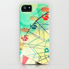 Panoramic carnival ferris wheel iPhone Case by Bomobob - $35.00