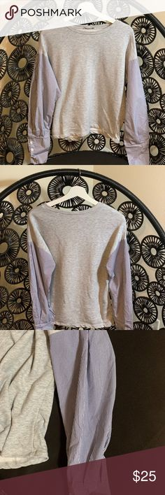 New Brandy melville light gray long sleeve ribbed Maryanne  Turtleneck Top NWT