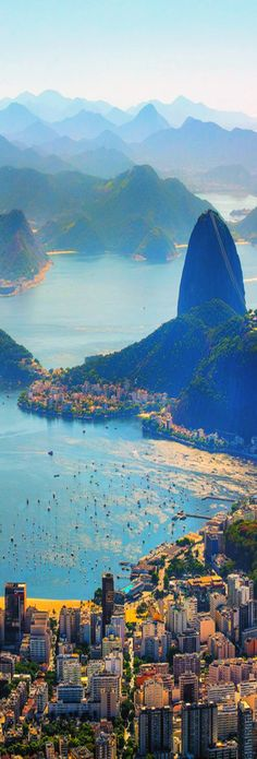 Aerial View Rio de Janeiro,Brazil // Premium Canvas Prints & Posters // http://www.palaceprints.com // STORE NOW ONLINE! monster