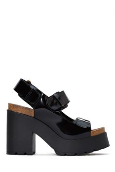 LBW loves: Update your sandals with these chunky patent platforms!