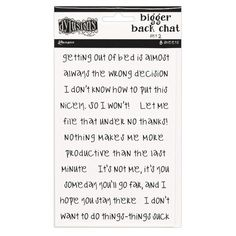 Add some fun chatter to your creative crafts with Dyan Reaveley's White Bigger Back Chat Set 2 Cardstock Stickers. Included in the package are eight x sheets of cardstock stickers by Dylusions Dyalog for Ranger Ink. Eclectic Artwork, Image Sheet, Quirky Quotes, Ranger Ink, White Prints, Bottle Painting, Collage Sheet, Collage Art, Journal Pages