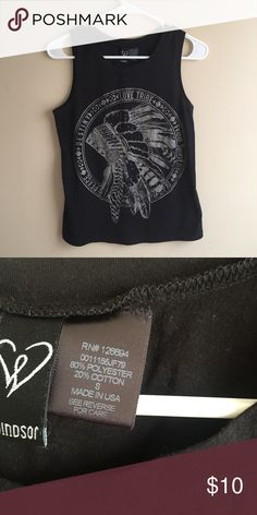 Love Tribe Muscle Tee Black love tribe muscle tee from Windsor, only worn once in excellent condition WINDSOR Tops Muscle Tees
