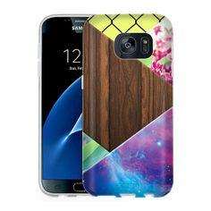 Samsung Galaxy S7 Galaxy Geometric Wood Slim Case