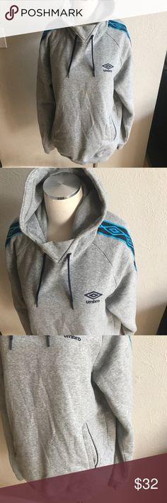 "Umbro hoodie sweatshirt Excellent condition!  Unisex.  Measures 28"" long and 22"" armpit to armpit.  Men's large Women's XL Umbro Tops Sweatshirts & Hoodies"