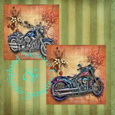 Softtail Motorcycles Art  Digital Collage Sheet by SaguaroGraphics, $4.25