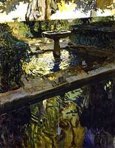 Joaquin Sorolla y Bastida - Spanish Artist - Generalife, Granada Oil Spanish Painters, Spanish Artists, Granada, Abstract Landscape, Landscape Paintings, Monet, Traditional Paintings, Henri Matisse, Vincent Van Gogh