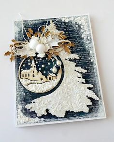 What a beautiful card - so clever. Christmas Paper Crafts, Christmas Scenes, Christmas Cards To Make, Xmas Cards, Christmas Greetings, Handmade Christmas, Holiday Cards, Christmas Crafts, 3d Cards
