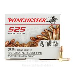 Winchester 22 LR Ammo - 5250 Rounds of 36 Grain CPHP Ammunition #22LR #22LRAmmo #Winchester #WinchesterAmmo #Winchester22LR #CPHP