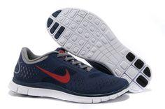 Mens Nike Free 4.0 V2 Blue Red