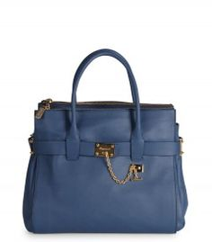 Dsquared2 Blue Vancouver Bag - Which Dsquared2 satchel do you love most for spring? http://shop.harpersbazaar.com/designers/dsquared2