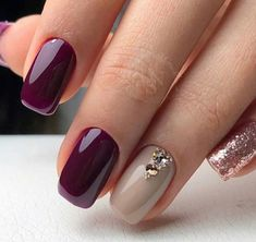 The Best Winter Nail Art Design Ideas The Best Winter Nail Art Design Ideas,Fingernägel 50 The Best Winter Nail Art Design Ideas nails art nails acrylic nails nails Plum Nails, Rose Gold Nails, Burgundy Nails, Gel Nails, Burgundy Wine, Stiletto Nails, Coffin Nails, Acrylic Nails, Nail Polish