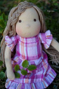 Lulu Waldorf Cloth Doll  10.63 inch. OOAK doll. by Mojalala