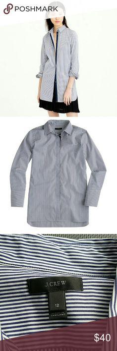 J. Crew Endless Shirt Blue striped shirt. 100% Cotton J. Crew Tops Button Down Shirts