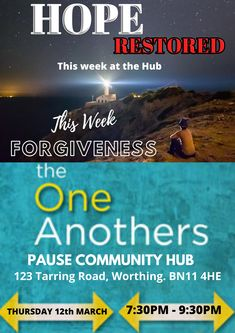 Are you missing being in fellowship with other believers of the Christian Faith or want to find out more then join us Thursday evening 930 pm here at the Pause Community Hub at 123 Tarring Road Christian Messages, Christian Faith, Faith Walk, New Friendship, Listening To You, Forgiveness, Thursday, How To Find Out, Restoration