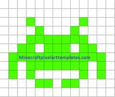 Minecraft Pixel Art Templates: Space invader
