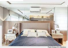 Amamos as cores e mobiliário utilizados neste quarto idealizado por B+L Arquitetura. Ad❤️ #arquiteturadecoracao #adquarto #adquartodecasal #quartodecasal #olioli_lifestyle