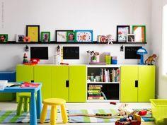 ライムイエロー?がかわいい。床も壁も白いから引き立つ。  Inspirationstips från Redaktionen | LIVET HEMMA