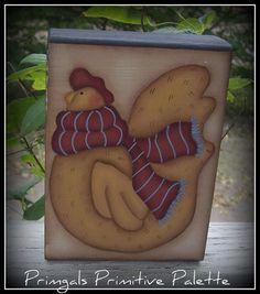 Chicken Wood Shelf Sitter Block