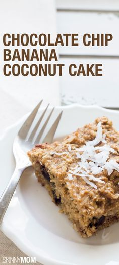 Chocolate Chip Banana Coconut Cake: This cake recipe is a MUST TRY!