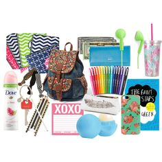"""""""What's in my backpack?"""" by kitkatmkp on Polyvore"""