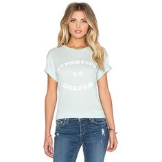 Wildfox Couture Deep Chats Tee Tops ($66) ❤ liked on Polyvore featuring tops, t-shirts, graphic tees, white graphic tees, white t shirt, graphic tops, graphic design tees and white top